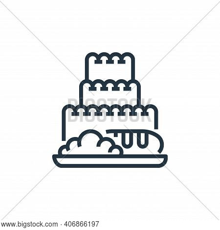 bakery icon isolated on white background from food delivery collection. bakery icon thin line outlin