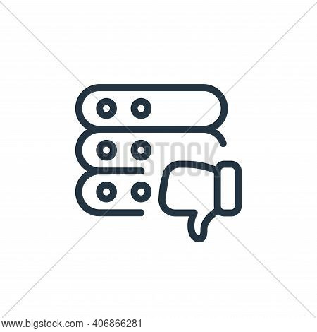bad review icon isolated on white background from work office server collection. bad review icon thi