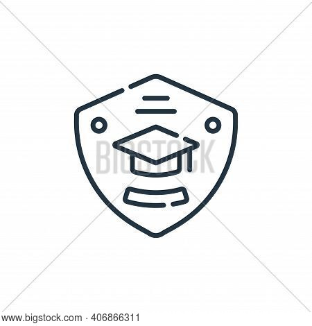 badge icon isolated on white background from academy collection. badge icon thin line outline linear