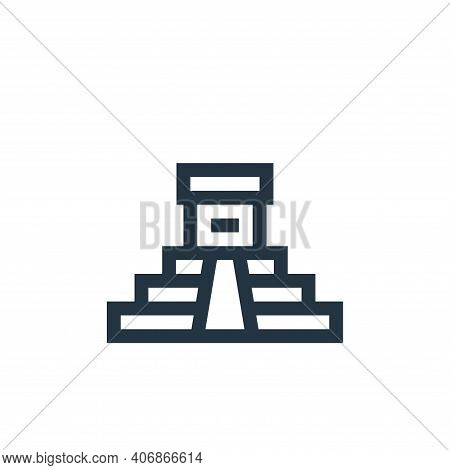 aztec pyramid icon isolated on white background from history collection. aztec pyramid icon thin lin