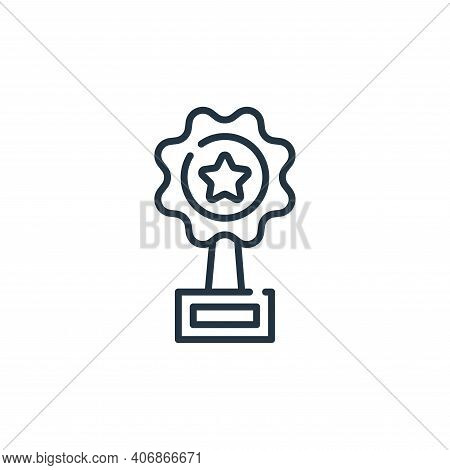 award icon isolated on white background from fame collection. award icon thin line outline linear aw