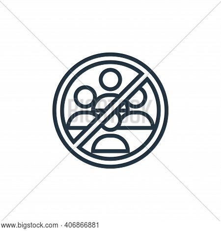 avoid crowds icon isolated on white background from pandemic collection. avoid crowds icon thin line