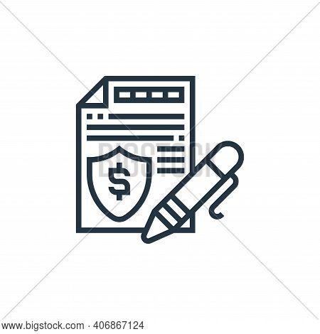 authentication icon isolated on white background from payment element collection. authentication ico