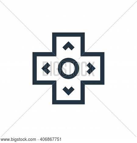 arrows icon isolated on white background from video game elements collection. arrows icon thin line