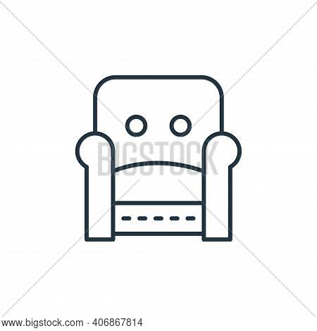 armchair icon isolated on white background from interiors collection. armchair icon thin line outlin