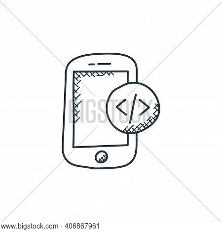 app development icon isolated on white background from technology collection. app development icon t