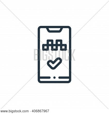 app icon isolated on white background from taxi service collection. app icon thin line outline linea