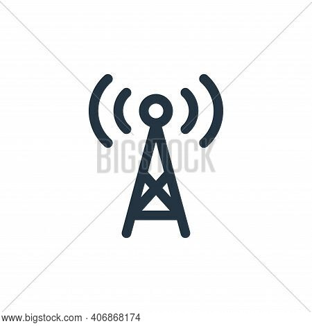 antenna icon isolated on white background from music collection. antenna icon thin line outline line