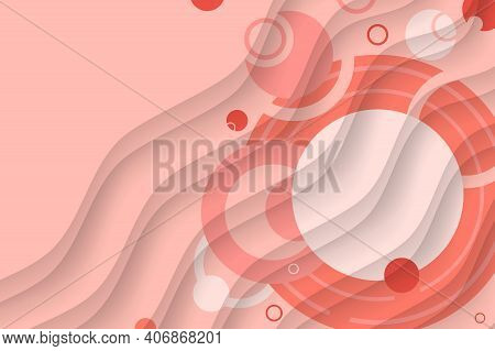 Abstract Background From Geometric Shapes And Circles. Stylish Wallpaper For Spring And Summer. Saku