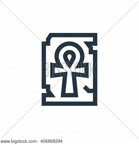 ankh icon isolated on white background from history collection. ankh icon thin line outline linear a