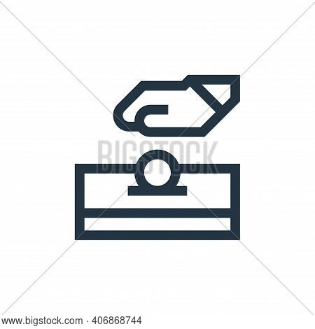 alms icon isolated on white background from ramadan collection. alms icon thin line outline linear a