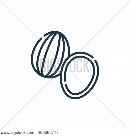 almonds icon isolated on white background from vegan food collection. almonds icon thin line outline