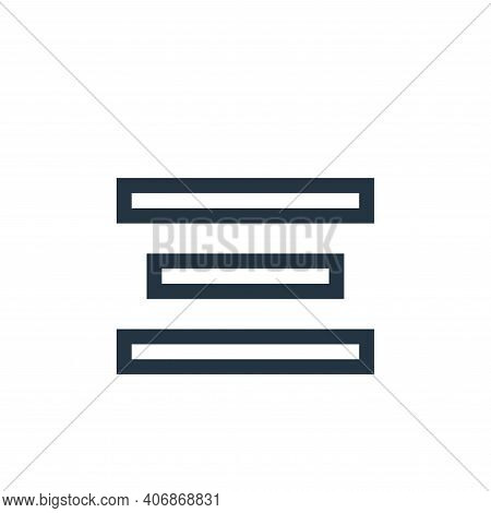 align center icon isolated on white background from text editor collection. align center icon thin l