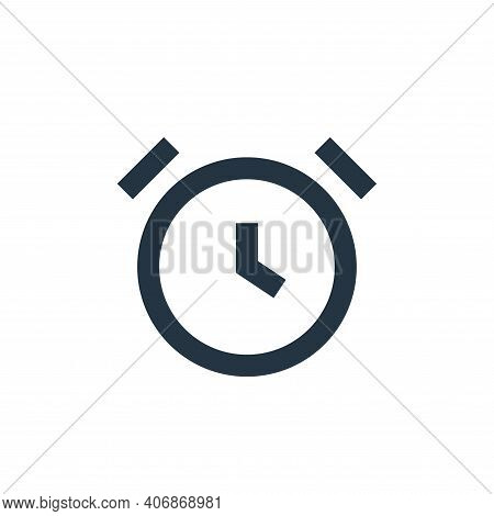 alarm icon isolated on white background from user interface collection. alarm icon thin line outline