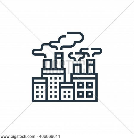 air pollution icon isolated on white background from climate change collection. air pollution icon t