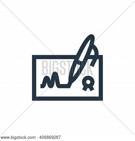 agreement icon isolated on white background from management collection. agreement icon thin line out