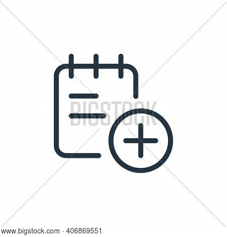 add icon isolated on white background from work office supply collection. add icon thin line outline