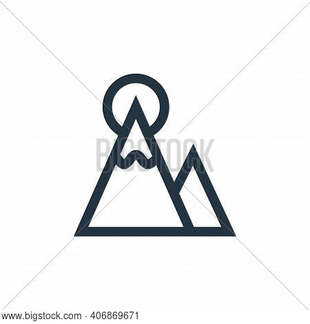 achievement icon isolated on white background from management collection. achievement icon thin line