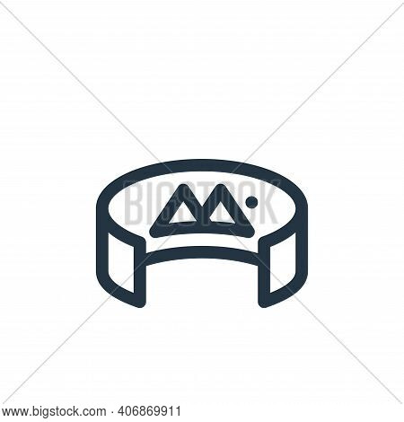 degrees icon isolated on white background from virtual reality collection. degrees icon thin line ou
