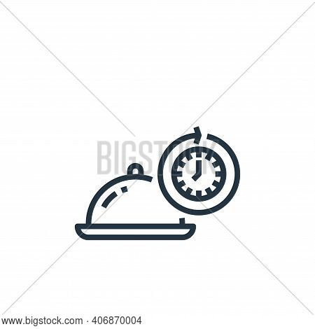 hours icon isolated on white background from food delivery collection. hours icon thin line outline