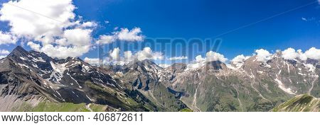 Panoramic Aerial View Of Grossglockner Mountain In Hohe Tauern National Park In Austria Tirol