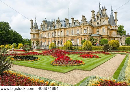 Buckinghamshire, Uk - June 25, 2015. Waddesdon Manor House And Gardens, An English Country House In