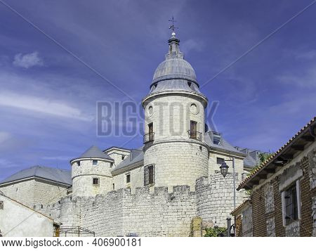 Castle Of Simancas Where Is The Famous And Oldest Official Archive Of The Crown Of Castile. Simancas