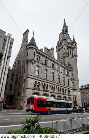Aberdeen, Scotland - August 11, 2019: Alexander Dennis Enviro 350h Hybrid Bus Of Stagecoach In Front