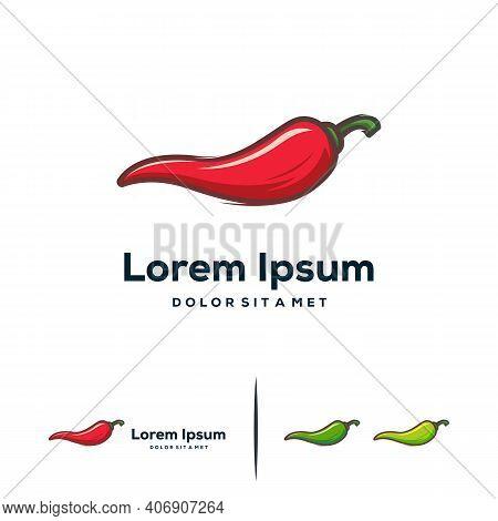 Modern Chili Logo Designs Template, Hot Chili Logo Designs Concept