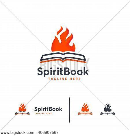 Spirit Book Logo Designs, Hot Learn Logo Designs Vector, Motivation Book Logo Designs