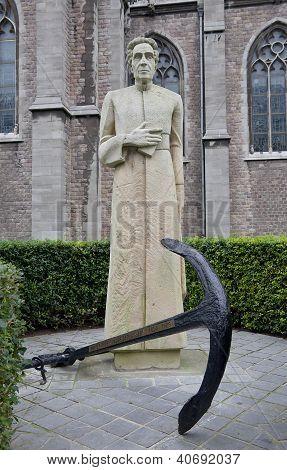Monument For Pastor Henri Pype. Ostend, Belgium