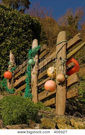 Driftwood Fence With Floats