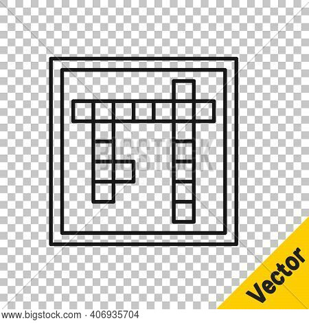 Black Line Bingo Icon Isolated On Transparent Background. Lottery Tickets For American Bingo Game. V
