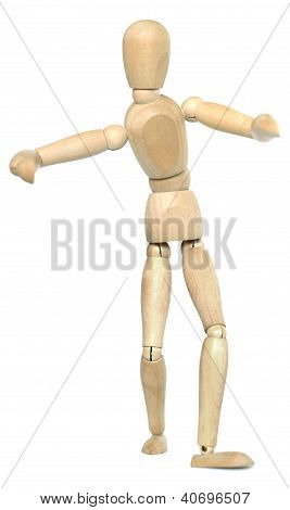 Wooden Dummy Gives A Hug