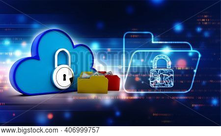 3d Rendering Cloud Computing Concept, Cloud Internet Technology Concept Background, Cloud Computing
