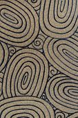 Ceramic is a line drawing patterns background. poster