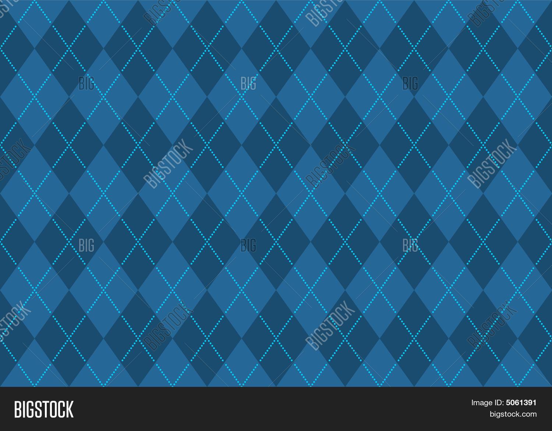 Blue Argyle Wallpaper Vector Photo Free Trial