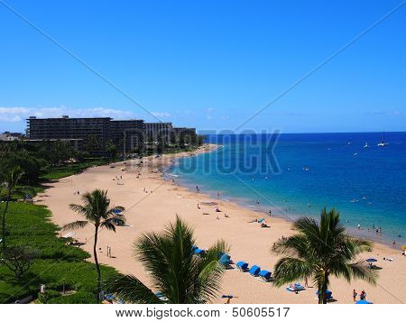 kaanapali beach . Maui Hawaii iland