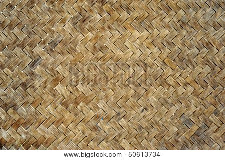 Bamboo sticky rice container texture for backgrounds poster