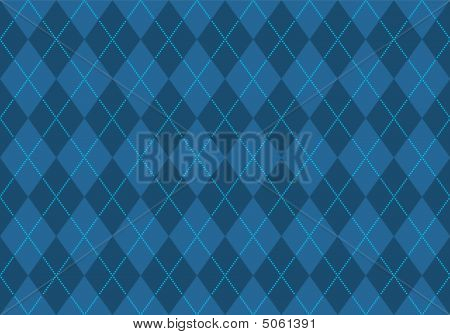 Blue Argyle Wallpaper