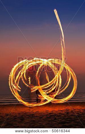Fireshow At The Beach