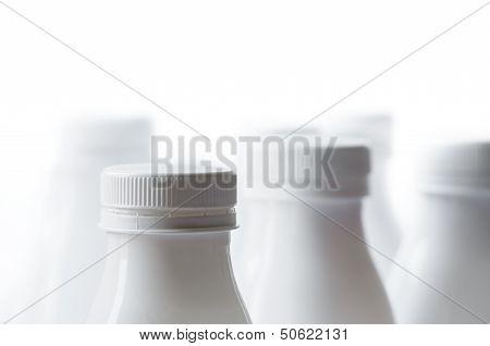 White Milk Bottles