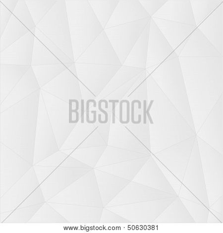 Abstract geometrical background with white triangles. Eps8 illustration poster