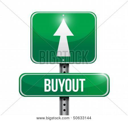 Buyout Road Sign Illustration Design