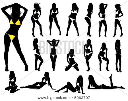 Girls In Bikinis - Vector