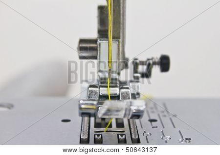 Close - Up Of Sewing Machine