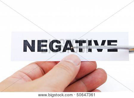 Cutting Paper Of Negative With Clipping Path