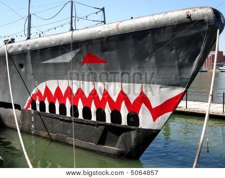 Submarine Torsk In Baltimore Inner Harbor