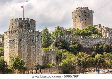 Rumelian Castle Also Known As Castle Of Europe Medieval Landmark In Turkey