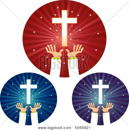 Hands Hope For Cross